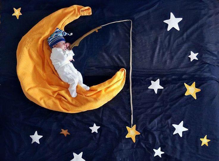 Sesión de fotos niño en la luna Good night ⭐️