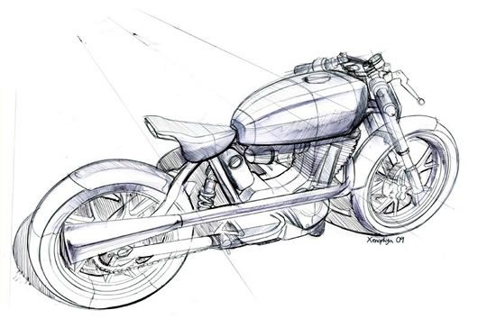 Mac Motorcycles Roarer rear design sketch | Label Media