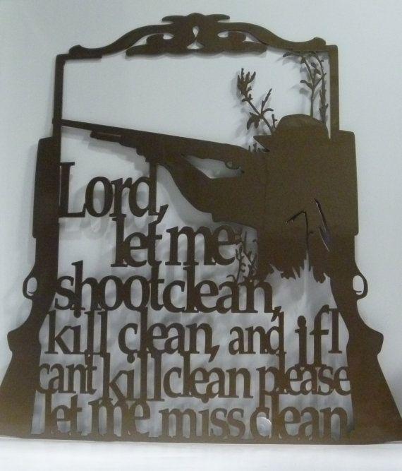 Prière Metal Art du chasseur signe de faisan de par 81MetalArt