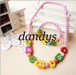 Wood Necklace & Bracelet Set / handmade Jewelry Set
