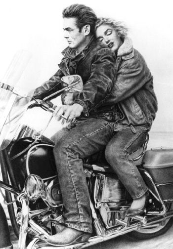 James Dean + Marilyn Monroe + Harley = HOT HOT & HOT