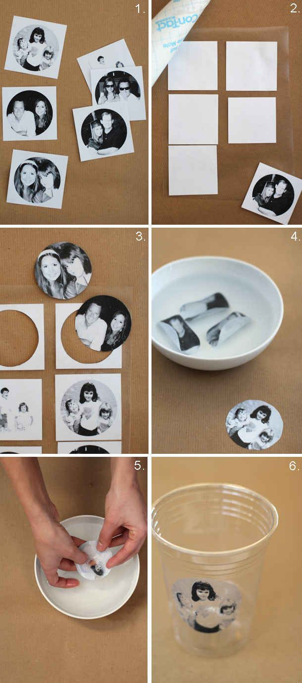Jazz up Solo cups by adding personalized photos of the honoree.