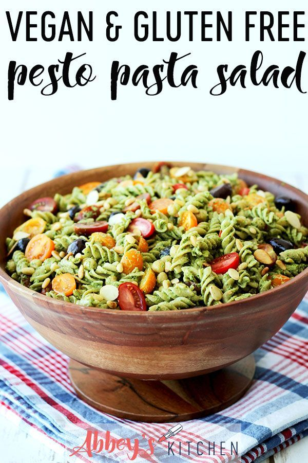 This Vegan Pesto Pasta Salad is the perfect dish when your entertaining or for a…