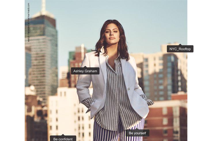 Ashley Graham Fronts Marina Rinaldi Spring 2017 Ads