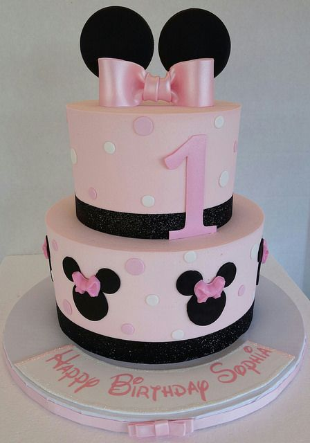 Minnie Mouse 1st Birthday Cake Flickr Photo Sharing