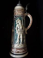 Antique GERMAN BEER STEIN Original  Predates 1891 2L
