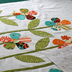 Applique   Flower Pattern   Free Pattern & Tutorial at CraftPassion.com