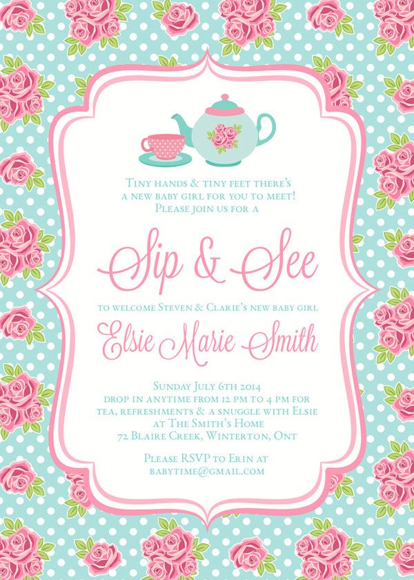 13 best Sip and See Party Ideas images on Pinterest | Baby showers ...