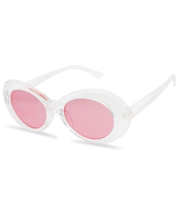 Oval Translucent Clout Goggles Frame Retro Color Transparent Lens Clear Sunglasses Frames Round Lens Sunglasses Glasses