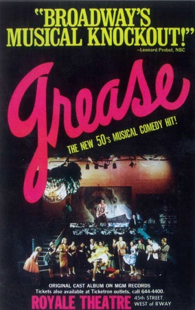 Grease - 1972 Broadway Poster.