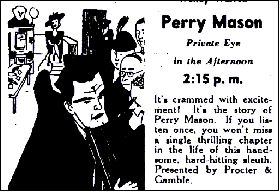 Perry Mason Radio Show Ad
