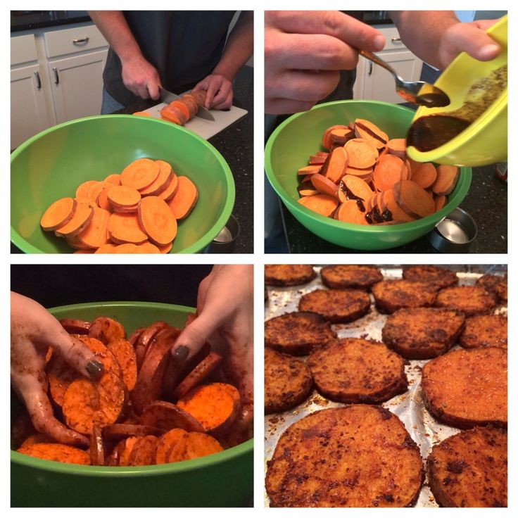 easy way to make HEALTHY sweet potato chips.  my new favorite side dish!