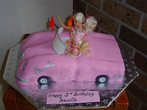 Barbie car cake!
