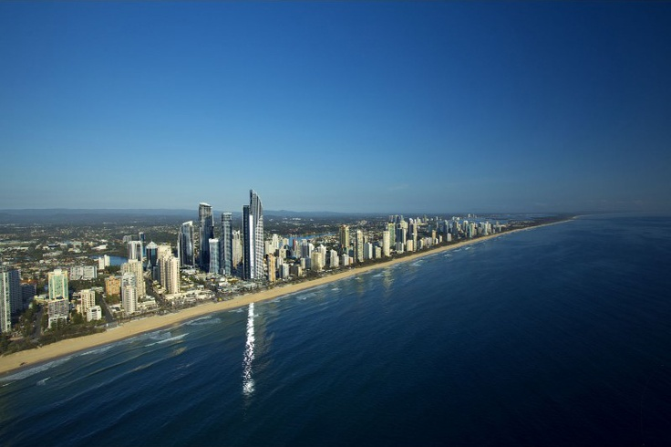 Aerial view of Surfers Paradise and Soul