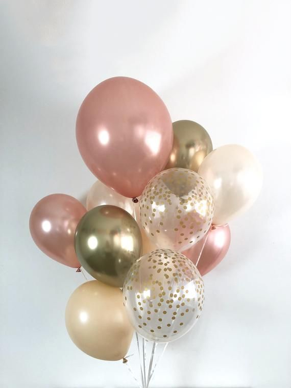 Boho Bridal Showers Wedding Rose Gold And Peach Balloons Sweet as a Peach Confetti Balloons Baby Shower Balloons Boho Party Birthday