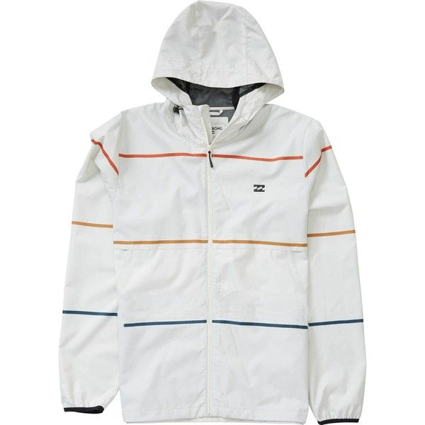 Transport Windbreaker Jacket ($50) ❤ liked on Polyvore featuring men's fashion, men's clothing, men's activewear, men's activewear jackets and billabong