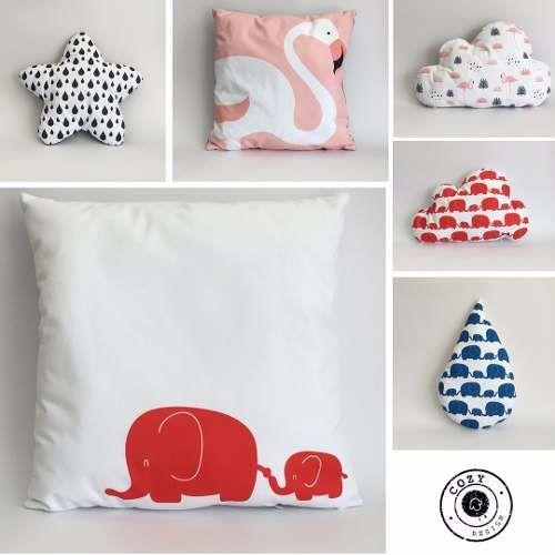 Flamingo, Star, cloud, elephants, drop, cushions.