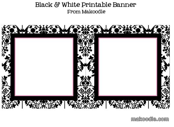 Free Printable Candy Buffet Labels | Black & White Damask Printable Downloads