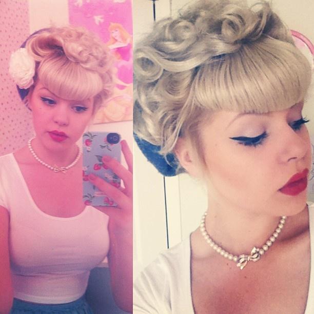 rachelfrancesx fab hair   Hairstyles   Pinterest   Retro