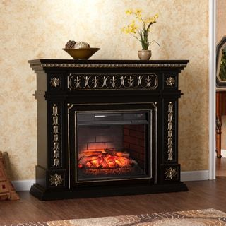 Shop for Harper Blvd Sandro Walnut Infrared Electric 519USD Overstock.com 40 x 47 Fireplace. Ships To Canada at Overstock.ca - Your Online Home Decor Outlet Store!  - 19235524