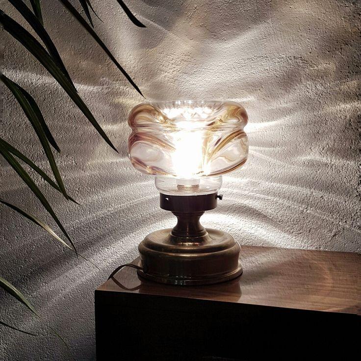 Mazzega lamp. Ca 1960. Lámpara de mesa años 60.