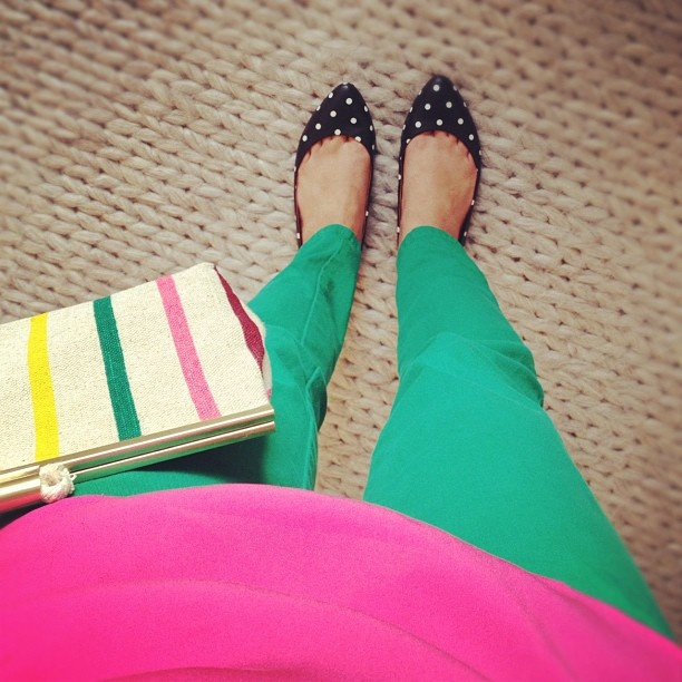 #green pink stripes