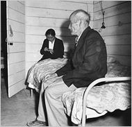 Dorthea Lange captures the emptiness of the room and soul in her photos.  Japanese internment camp photo.