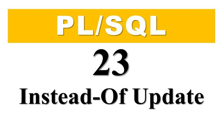 PL/SQL tutorial 23: How To Create an Instead-of Update Trigger By Manish sharma rebellion rider