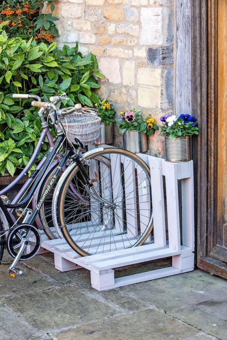 Palette #Fahrrad #Rack ……. # www.landscapemaga…