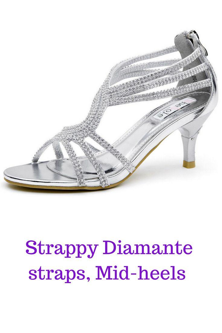 Au Free Ship Womens Strappy Low Heels Wedding Sandals Dance Silver Shoes Low Heel Wedding Sandals Heels Low Heels Wedding