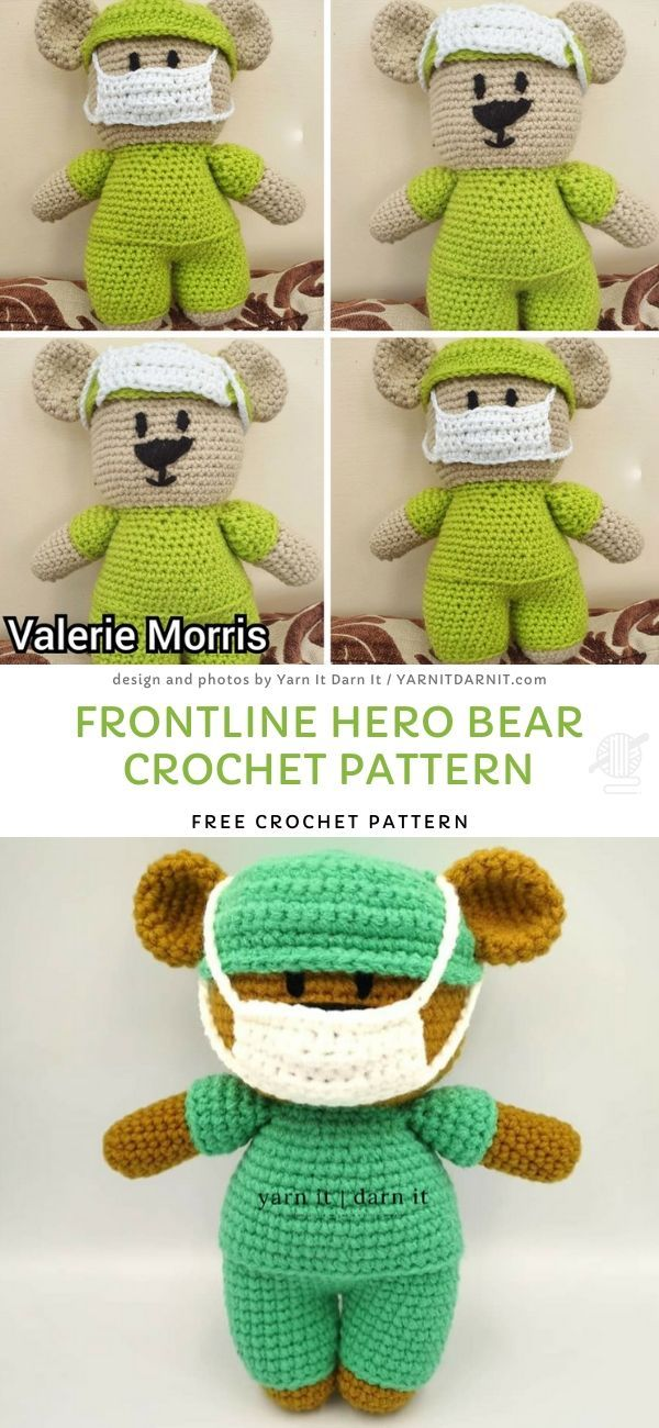 Crochet Front line Hero Bear - Easy Instructions - YouTube   1300x600
