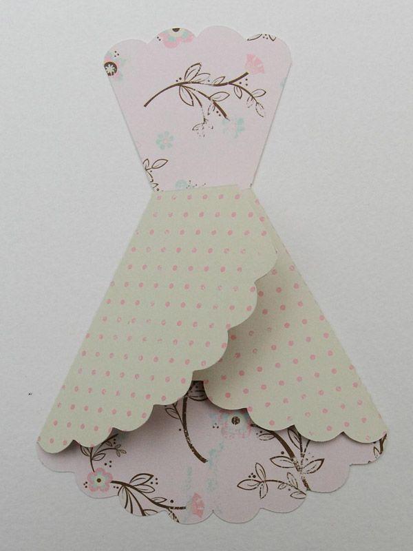 Скрапбукинг открытки на 8 марта с платьями