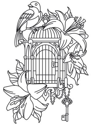 Pretty, enchanting, and a little bit Victorian. Downloads as a PDF. Use pattern transfer paper to trace design for hand-stitching.