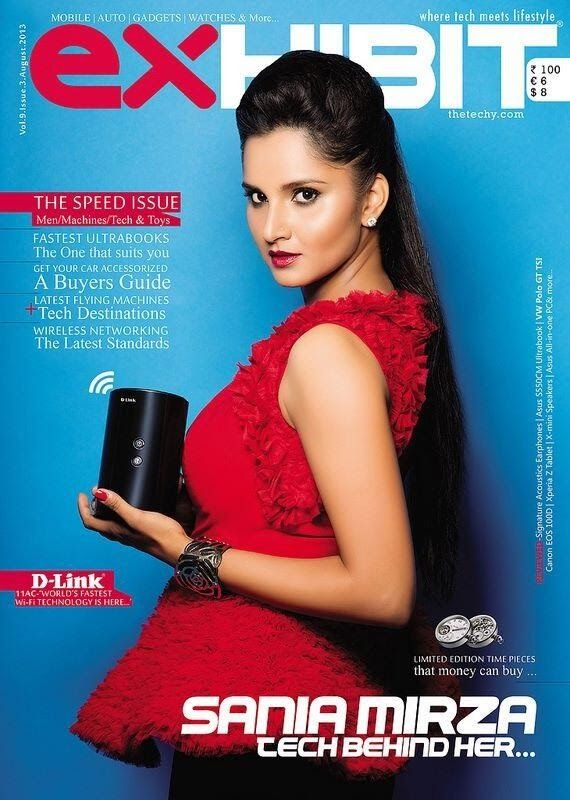 Sania Mirza on The Cover of Exhibit Magazine - August 2013.