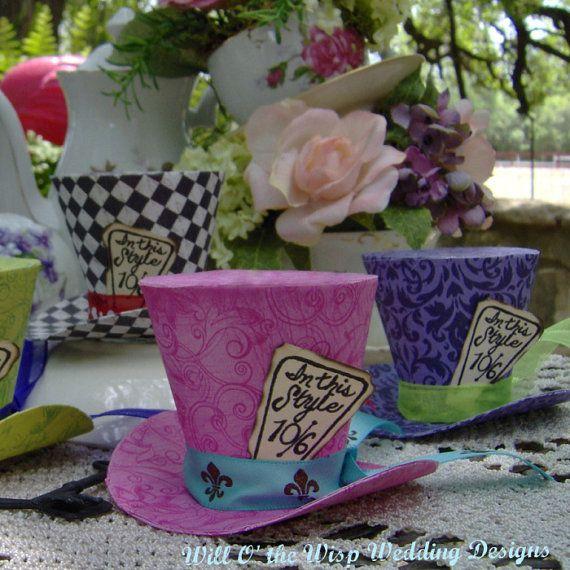 Alice in Wonderland  Decorations 5 MAD by WillOtheWispWedding, $37.50