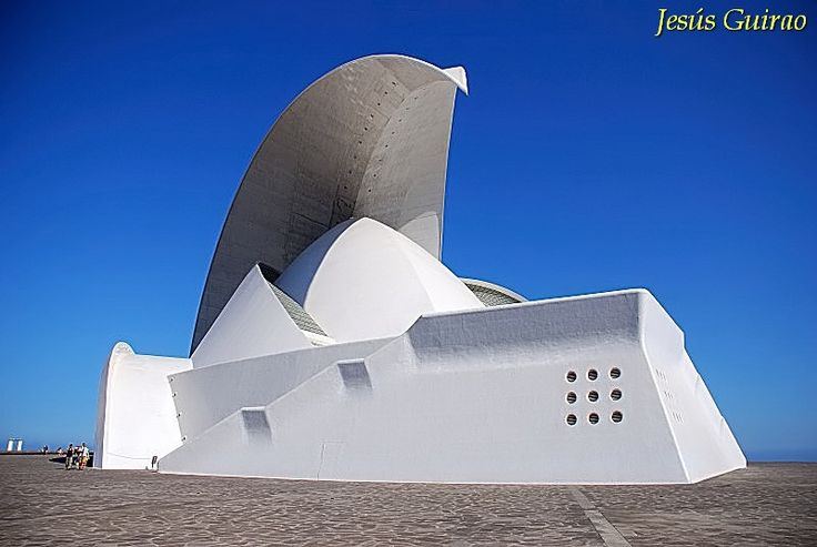 Incredible modern architecture at the Auditorio Tenerife