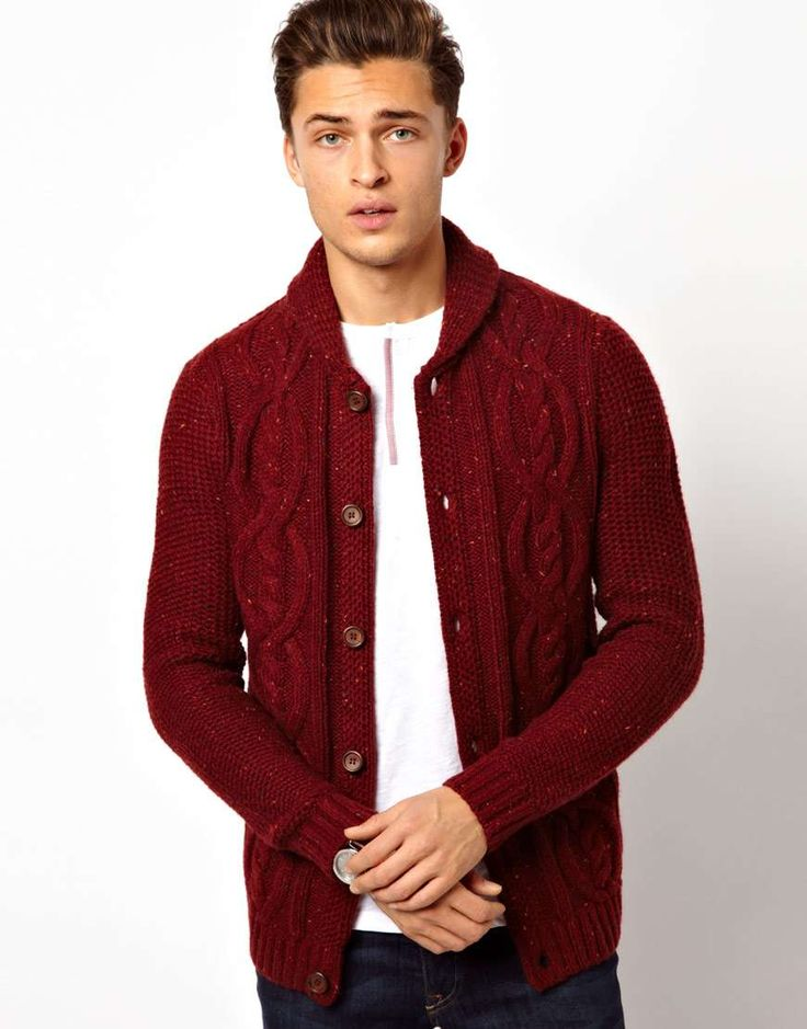 Best 25  Mens chunky knit cardigan ideas on Pinterest | Cardigan ...