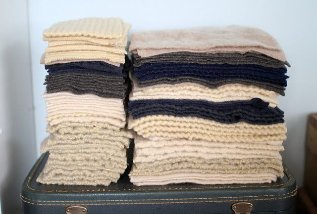 Step by step tutorial on repurposing wool sweaters into quilt.  Beautiful!