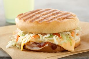 Homemade panini? Absolutely! Grab some BBQ sauce, turkey and coleslaw mix, and prepare for a treat. (No panini grill? We have skillet instructions, too!)