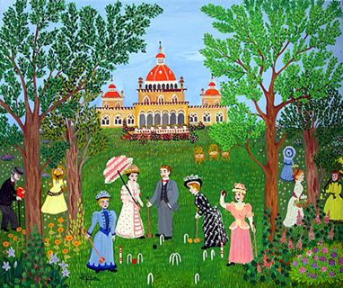 Playing Croquet by Maria Julia Fraile