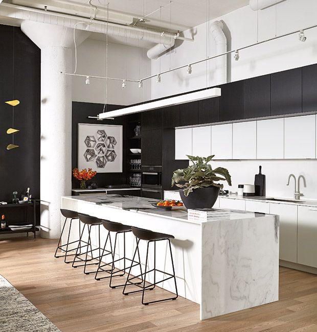 9 Standout Kitchen Islands: Best 25+ Black White Kitchens Ideas On Pinterest