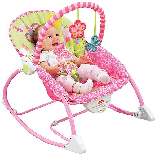 Baby Girl Bouncy Seat Would Like It Better If Had Music