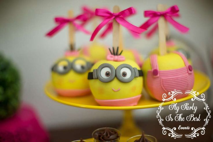 These Minion girl cake pops are awesome!! Don't miss the fantastic Minions Birthday! See more party ideas and share yours at CatchMyParty.com
