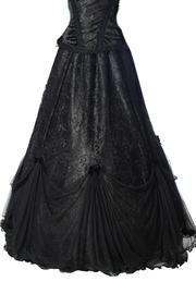 Hannah Black Gothic Skirt by Sinister