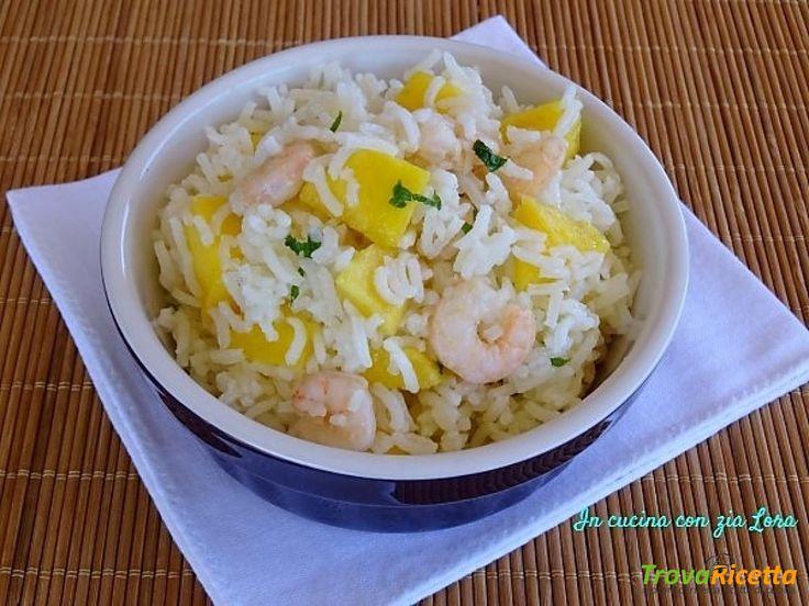 Insalata di riso con mango e gamberetti  #ricette #food #recipes