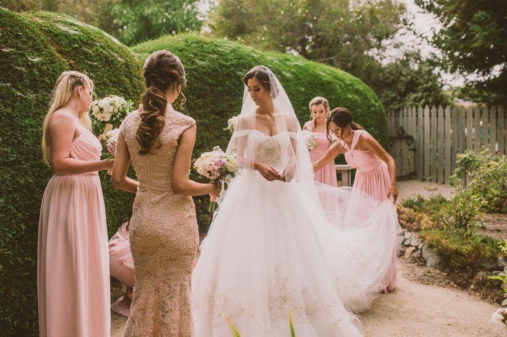 Blush Ball Gown Wedding Dress: Best 25+ Blush Bridesmaid Gowns Ideas On Pinterest