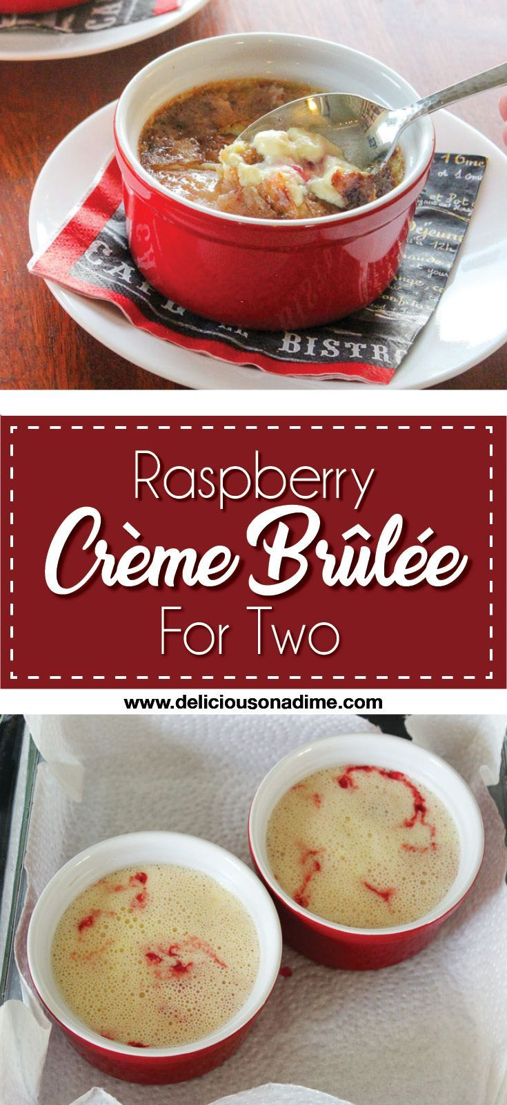 Raspberry Creme Brulee For Two