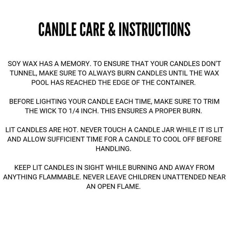 Get the most out of your candle with proper care candles