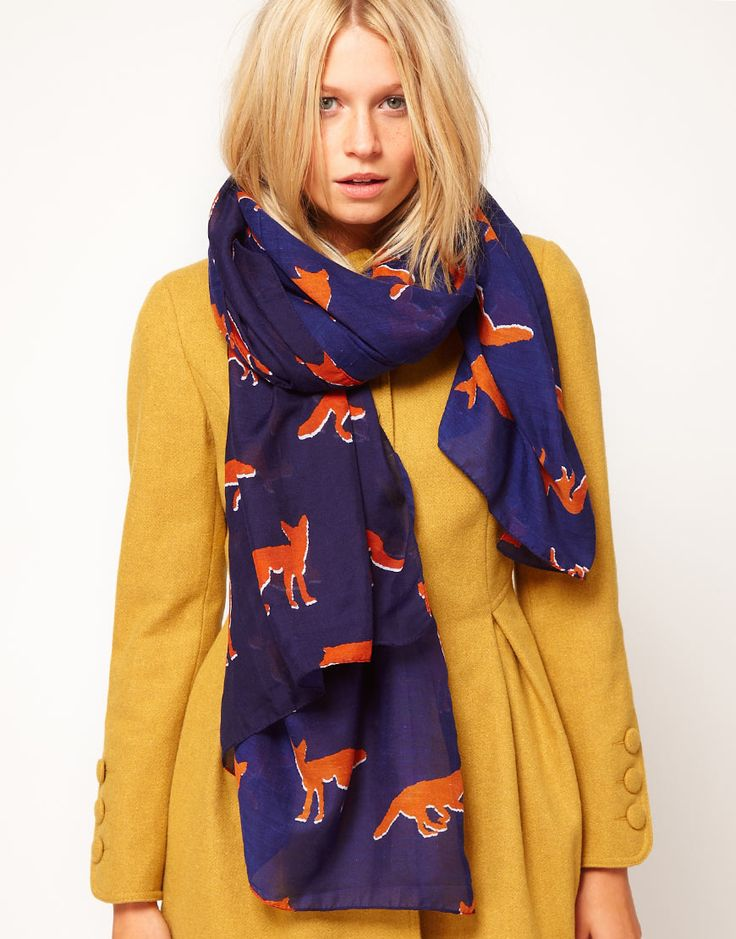 ASOS fox print scarf. i love scarves.
