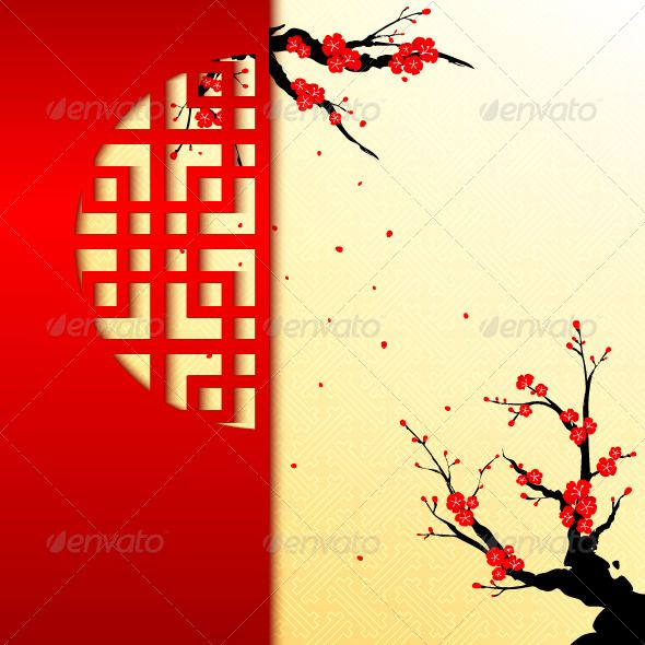 Chinese New Year Greeting Card  #GraphicRiver         Chinese New Year r